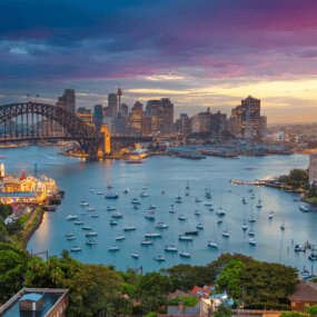 Sydney Harbour bridge and bau